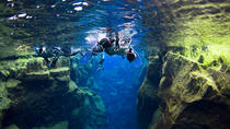 Snorkelling at Silfra in Crystal Clear Water between Two Tectonic Plates, Reykjavik, Snorkeling