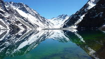 Portillo Inca Lagoon at The Andes Mountains and San Esteban Vineyard from Santiago, Santiago, Day ...