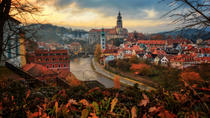 Shared Shuttle Bus from Hallstatt to Prague with stop-over in UNESCO Listed Town of Cesky Krumlov,...