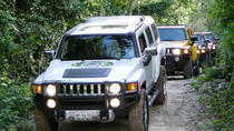 All-Inclusive Self-Drive Hummer Tour: Ziplining, Cenote and Interactive Zoo, Cancun, Ziplines