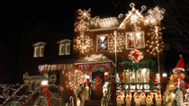 Brooklyn Heights Weihnachtslichter-Führung in Dyker Heights in Brooklyn, New York City, ...