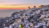 Santorini Sunset Dinner Cruise with Wine Tasting, Volcano Visit and Hot Springs Admission, ...