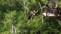 Cancun Adventure Tour at Selvatica: Zipline, Aerial Bridge, ATV, Bungee Swing and Cenote Swim, ...