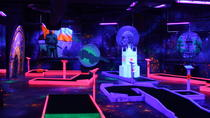 Prague Black Light Mini Golf and Games Tour Including Free Drinks, Prague