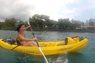 Big Island Keauhou Bay Kayaking and Optional Snorkeling Cave Tour