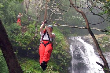 Puntarenas Shore Excursion: Waterfall Canopy Zipline Tour