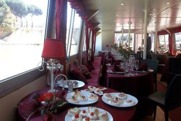 Rome Tiber River Night Cruise with Dinner or Wine