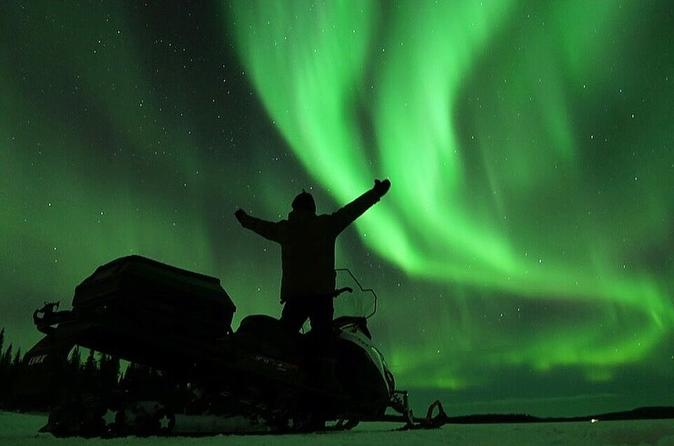 Experience the Northern Lights from top of Mt Ednamvárri with 360 degree views