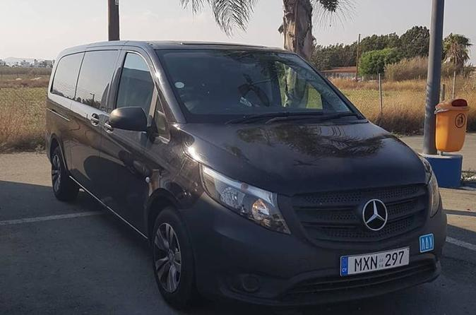 Larnaca Airport Private Transfer to Ayia Napa 1-8 passengers