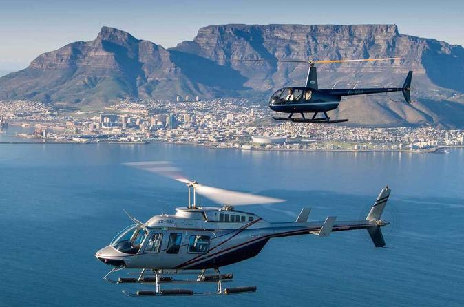 Helicopter and Winelands Private Day Tour from Cape Town