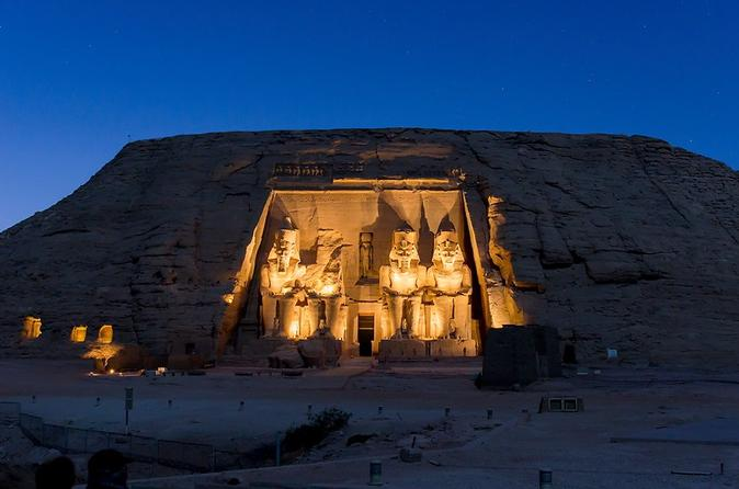 Temples of King Ramses II and Queen Nefertari with Flight from Aswan