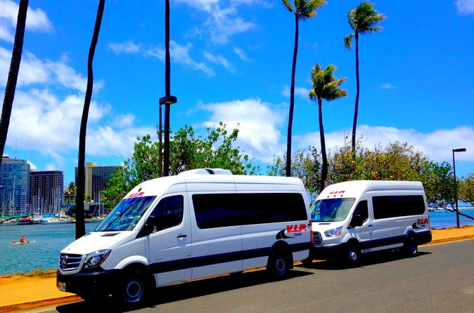 Arrival Transfer: Airport Shuttle Honolulu and Waikiki or Cruise Terminal