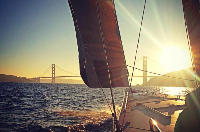 America's Cup Sailing Adventure on San Francisco Bay: Sunset Sail