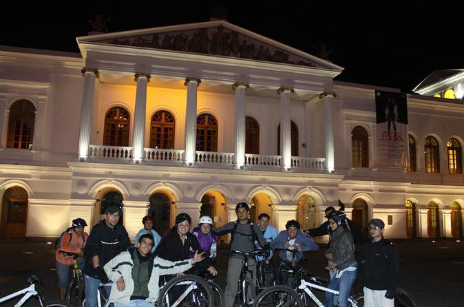 Bike tours by Night Quito 3-4 hours (Daily Departures) min 4 pax Shared