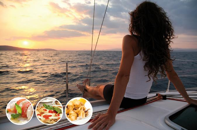 Boat and Dine Evening Cruise from Sorrento to Marina di Puolo