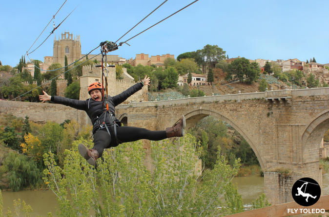 Toledo Your Own Way Plus Zipline and Tourist Train from Madrid