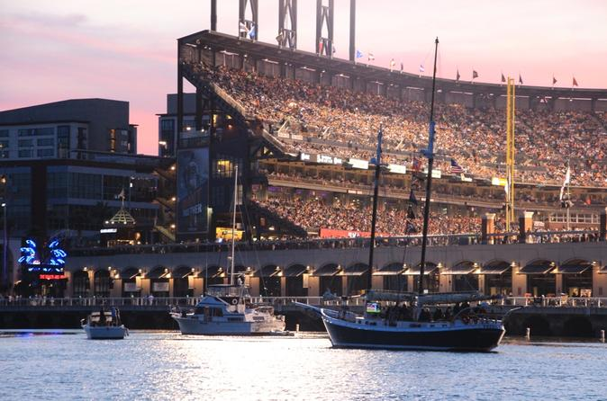 San Francisco Giants Spectator Cruise in McCovey Cove from Sausalito
