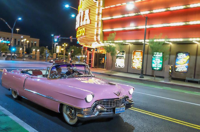 Las Vegas Pink Cadillac Strip Photo Tour with Elvis