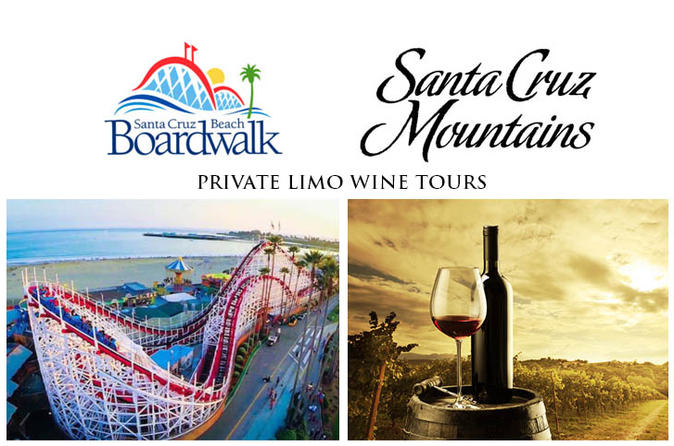 10 Hour Santa Cruz Mountains Wine Tasting Tour & Boardwalk Free Time