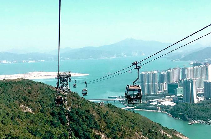 Hong Kong Layover Tour to Lantau Giant Buddha with Cable Car and Boat Ride