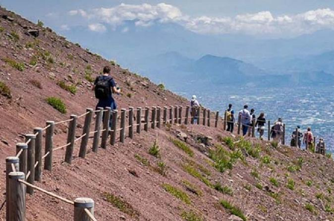 Private Day Tour from Rome to Pompeii Ruins and Mount Vesuvius with Lunch and Wine Tasting included
