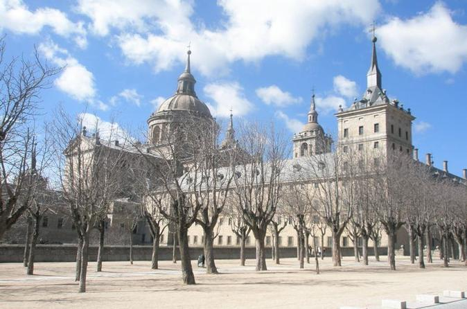 El Escorial Monastery and the Valley of the Fallen from Madrid