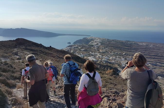 Santorini Caldera Small Group Hiking Tour