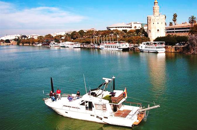 Seville-sightseeing-cruise-by-yacht-including-lunch-in-seville-137958