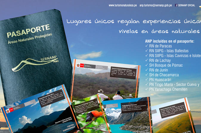 Ticket entrance to 10 Natural Protected Areas and Complete Guide of Nature Areas in Peru