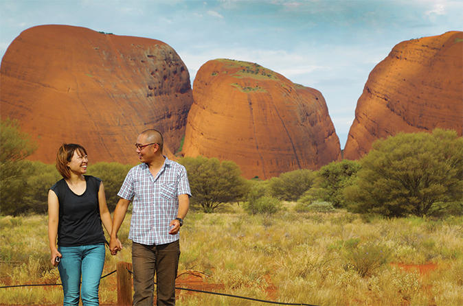 Kata Tjuta Sunrise and Valley of the Winds Half-Day Trip image