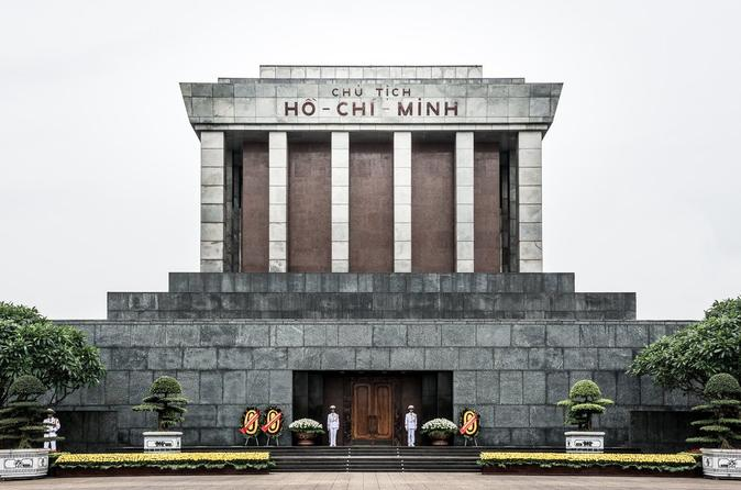 Visit Ho Chi Minh Mausoleum at night