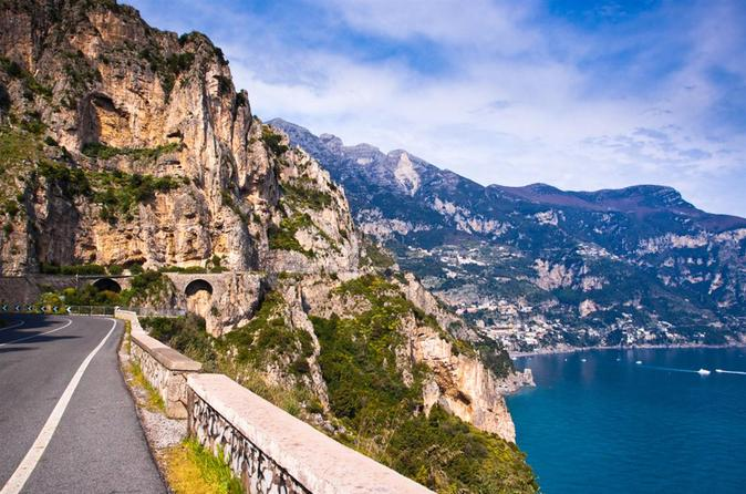 Scenic Amalfi Coast Drive from Castellammare and Pompeii