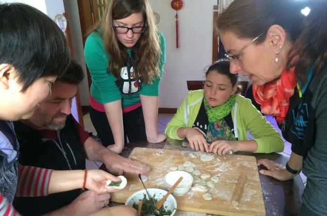 Dumpling cooking lesson in local family