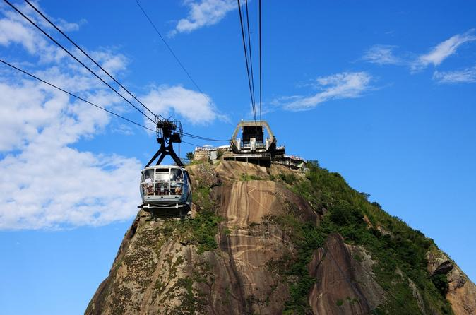 Christ Redeemer, Sugar Loaf and Corcovado Mountain from Rio