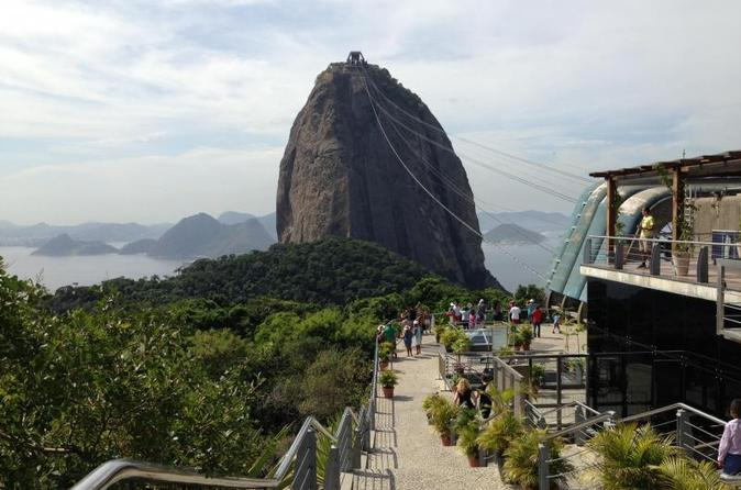 Sugar Loaf with Selaron Steps and Christ Redeemer by Van with Barbecue Lunch