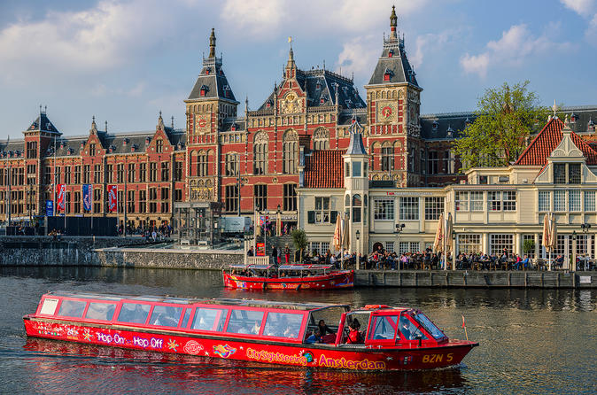 City Sightseeing Amsterdam 24-Hour Hop-On Hop-Off Boat & A'DAM Lookout Ticket