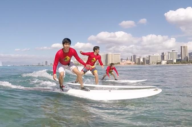 Oahu Surf Lessons - Group Lesson - Right Outside Waikiki