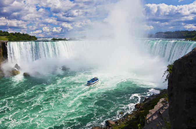 Niagara Falls Canada with Boat Ride or Behind the Falls Tour