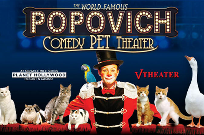 Popovich Comedy Pet Theater en el Planet Hollywood Resort and Casino