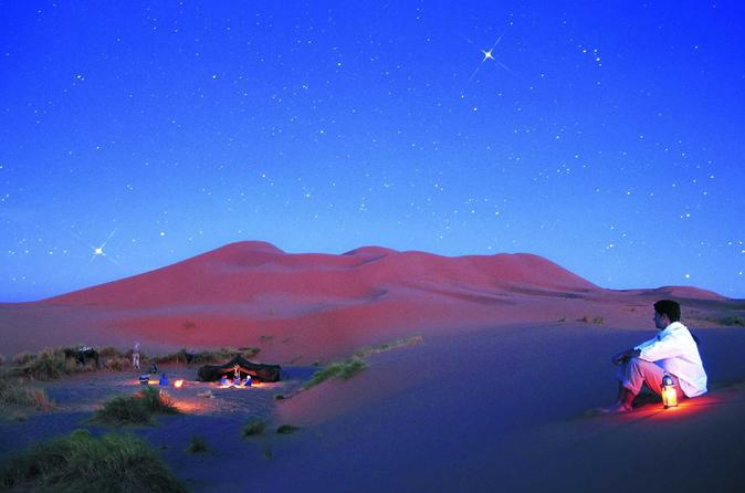 Excursion on camels and Overnight in oasis camp in the desert Erg Chebbi Merzouga Dunes