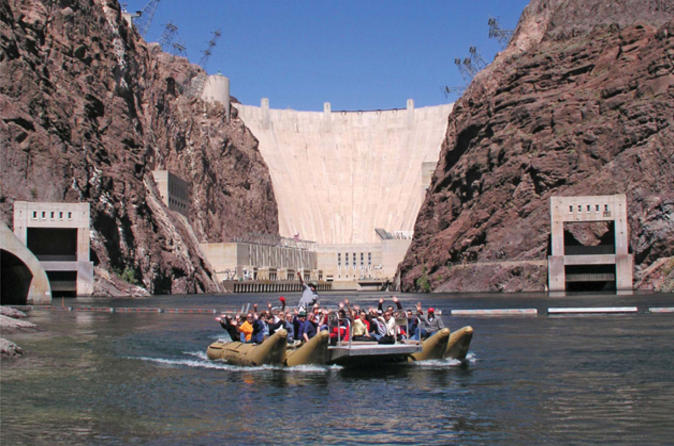 Hoover-dam-top-to-bottom-by-luxury-suv-with-colorado-river-float-in-las-vegas-117967