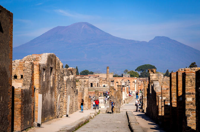 Rome to Pompeii and Mt. Vesuvius Day Trip with Admission Fees