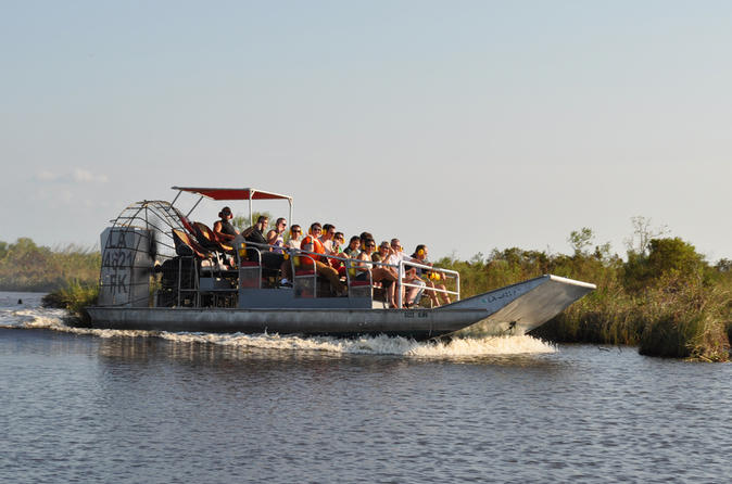 Airboat Ride with Round-Trip Transportation from New Orleans