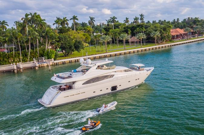 88' Ferretti Boat Rental with Jacuzzi and Jet Ski in Miami