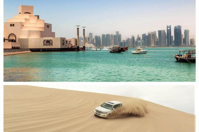 Private Combo Tour Doha city and half day desert safari