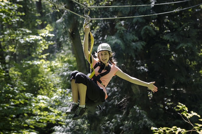 Zipline Canopy Tour with Transportation from Seattle