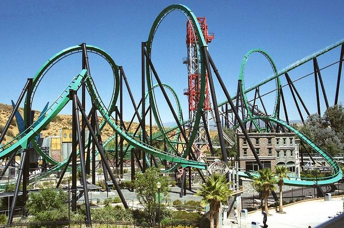 Six Flags Magic Mountain Admission with Transportation from Anaheim
