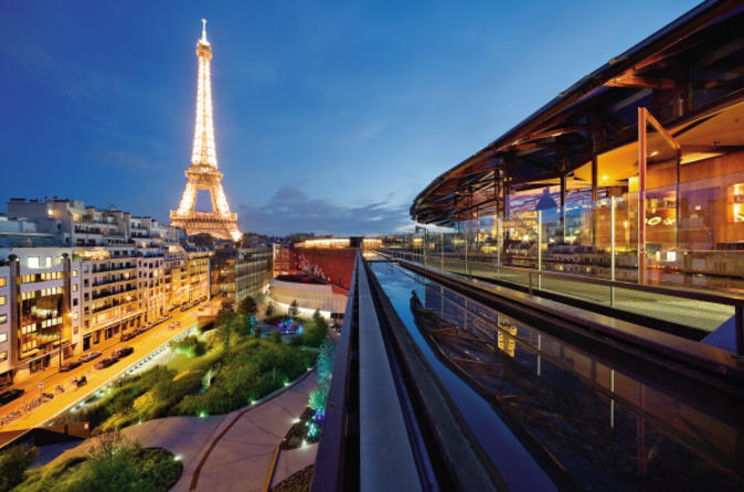 and rooftop dinner at les ombres restaurant with eiffel tower views