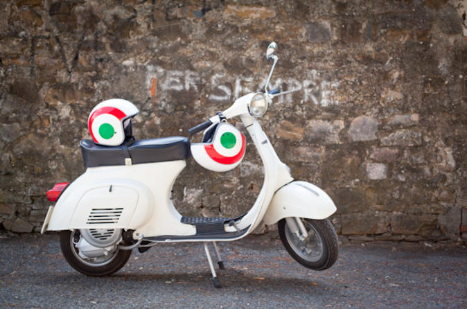 Florence and Tuscan Hills Vespa Tour with Italian Cuisine Meal