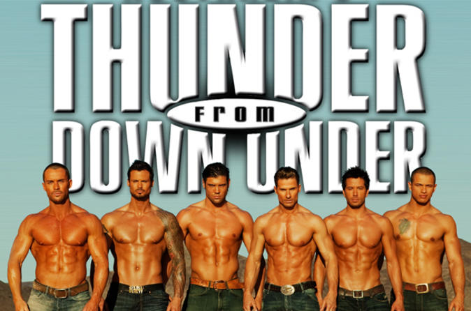 Thunder from Down Under en Excalibur Hotel and Casino